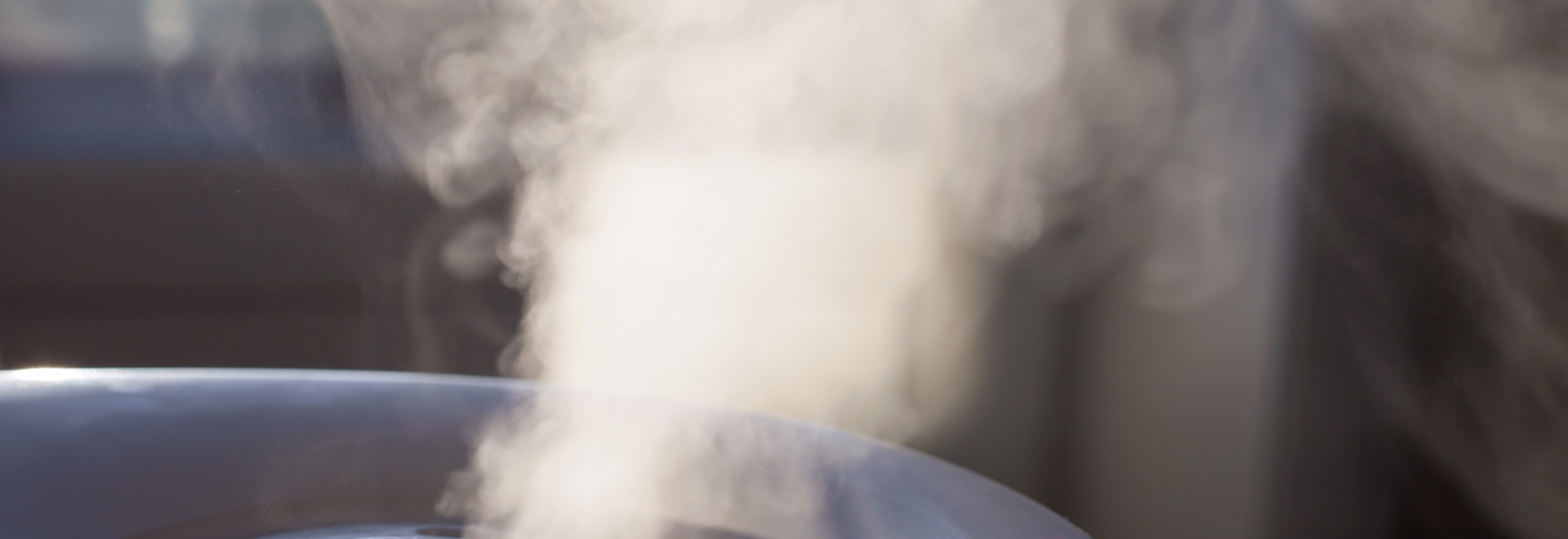 Humidifier Emitting Water Vapor Into Air