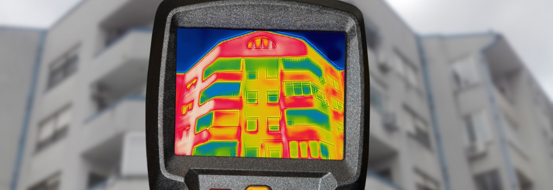 infrared thermal imaging on corporate building energy assessment